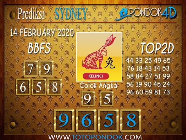 Prediksi Togel SYDNEY PONDOK4D 14 FEBRUARY 2020