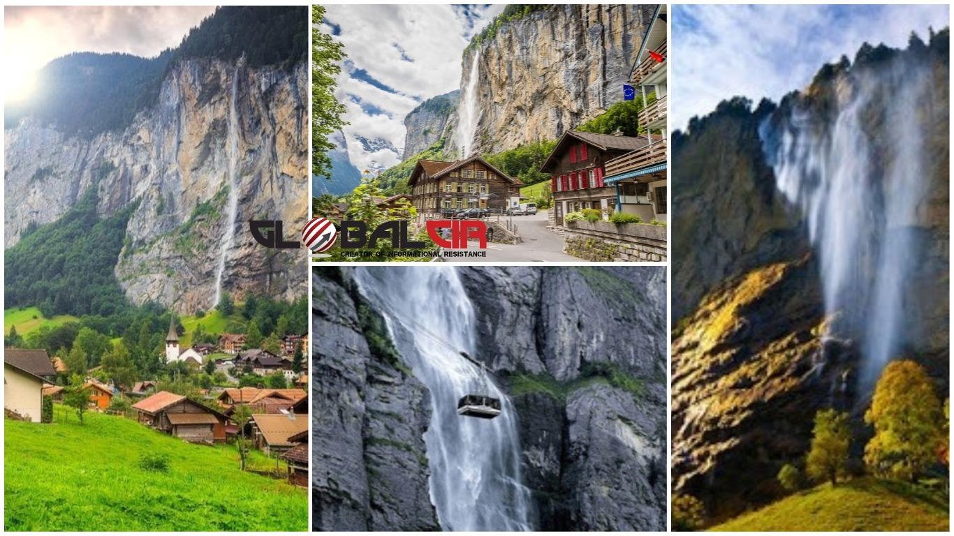 NAJPOZNATIJI VISOK 300 METARA! Švicarsko selo iz bujne zelene doline koje okružuju čak 72 vodopada