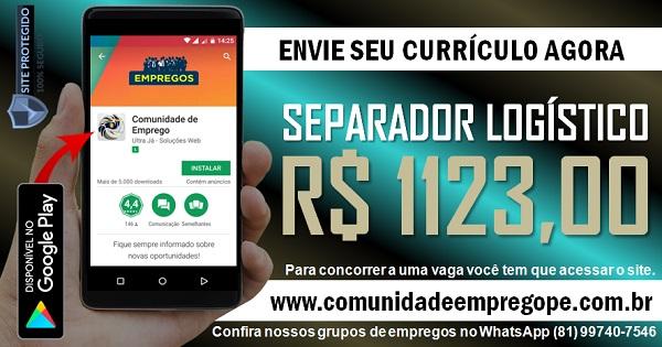 SEPARADOR LOGÍSTICO NOTURNO COM SALÁRIO R$ 1123,00 PARA EMPRESA DE TERCEIRIZAÇÃO