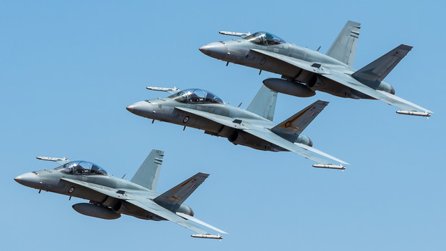 3-Hornets-in-sky-formation