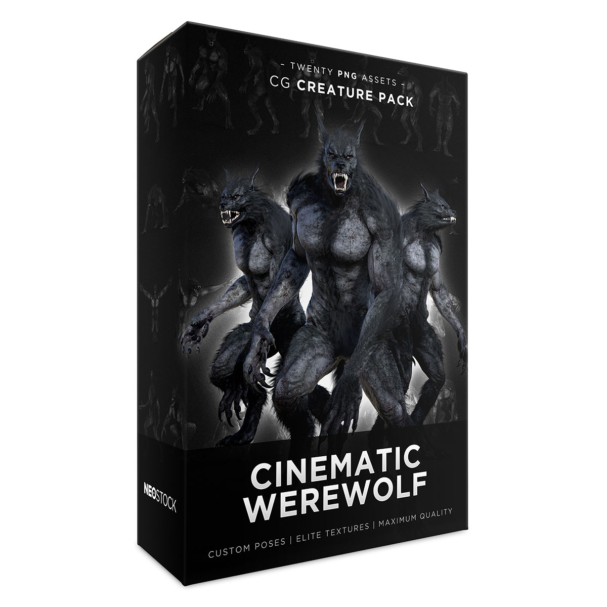 cinematic werewolf product box