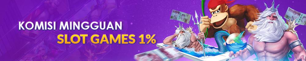 Bonus Komisi Rebate Mingguan Slot Games