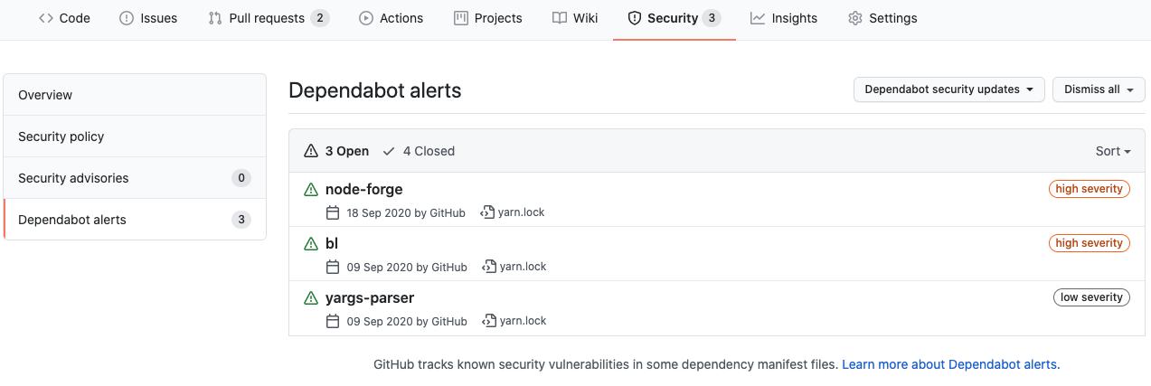 Security: Dependabot alerts