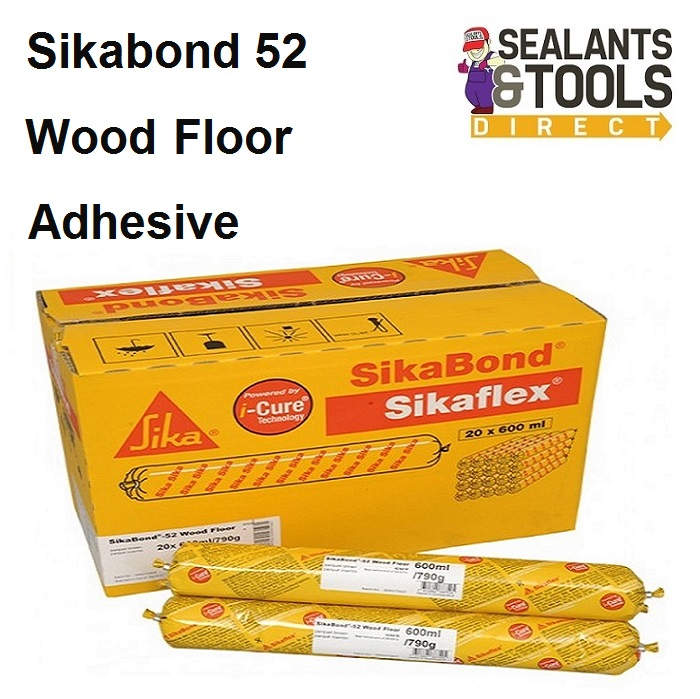 Sika Sikabond 52 Wood Floor Flooring Adhesive 600ml Box 20 FPSKBD52