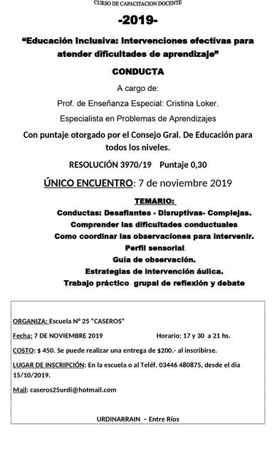 Sociales: CURSO DE CAPACITACION DOCENTE