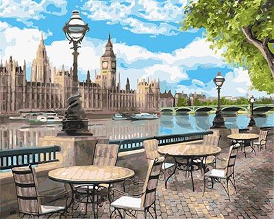 Картина по номерам Набережная лондона GX25070