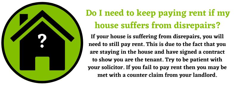 Paying Rent for Housing Disrepairs