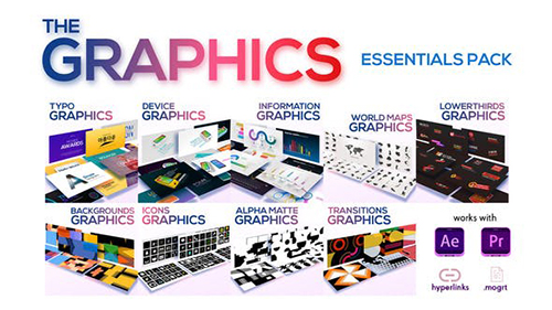 The Graphics Essentials Pack 23452149 - Project for After Effects & Premiere pro (MOGRT) (Videohive)