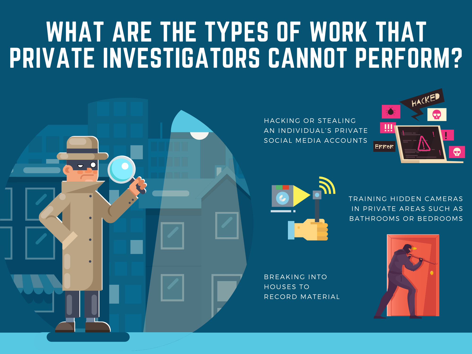 What-are-the-types-of-work-that-private-investigators-cannot-perform