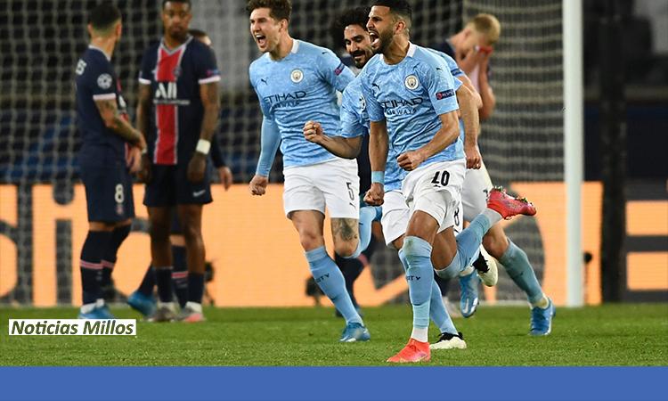 GOLES del partido Manchester City y PSG en Champions League