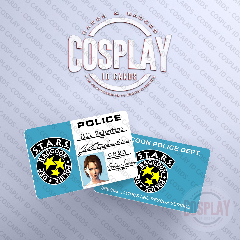 RESIDENT EVIL 3 Nemesis   Jill Valentine STARS ID Card ...