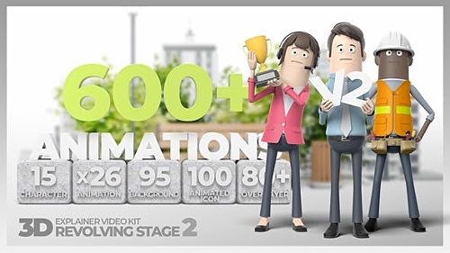 3D Explainer Video Kit Revolving Stage 2 28824485 - Project for After Effects (Videohive)
