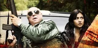 General Travis Hampton (The late Don S. Davis) with Hampton (Tinsel Korey) try to avoid the Wyvern in searching for supplies