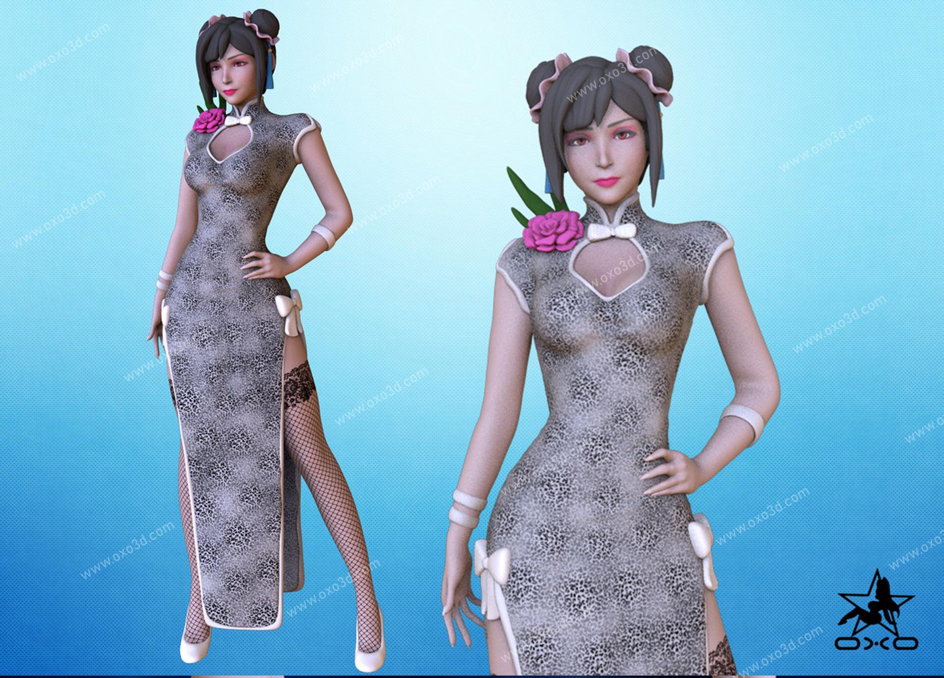 Tifa Lockhart 3D Printing Model STL - Sport Outfit