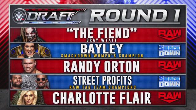 WWE Draft 2020 Ronda 1
