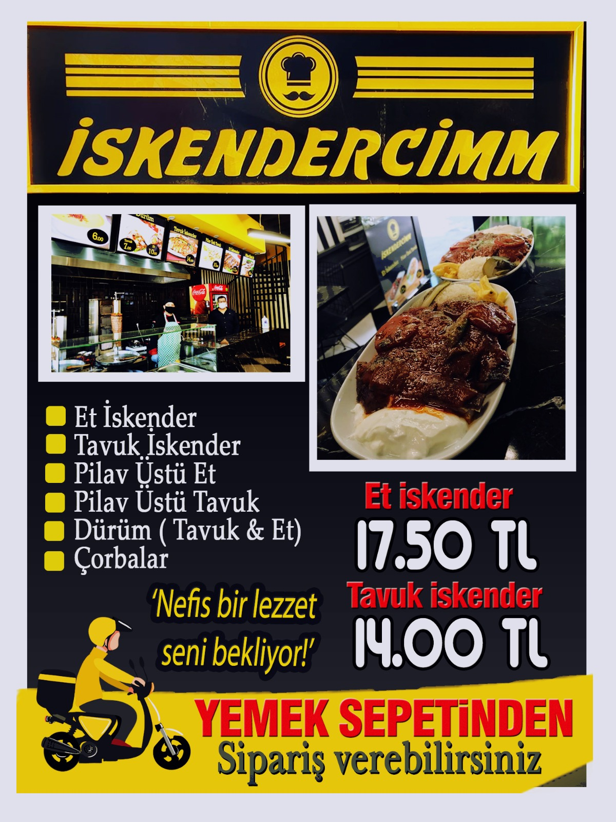 ISPARTA iskender sipariş