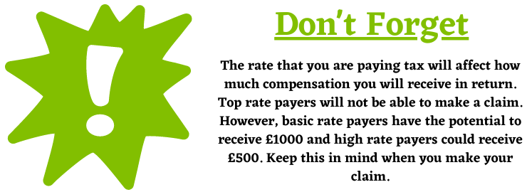 Rate of the PPI Tax Claim Information