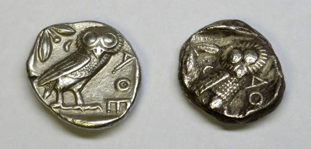 (otro) Tetradracma de Atenas, este sobre 287-262 a.C. Ot06