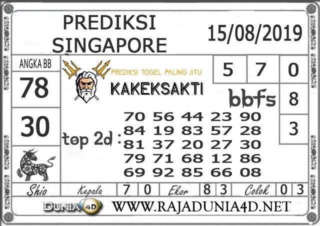 """Prediksi Togel """"SINGAPORE"""" DUNIA4D 15 AGUSTUS 2019"""