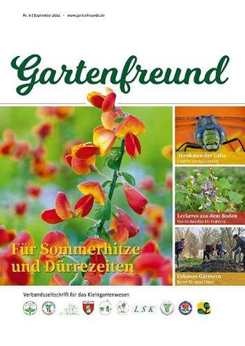 Cover: Gartenfreund Magazin September No 09 2021