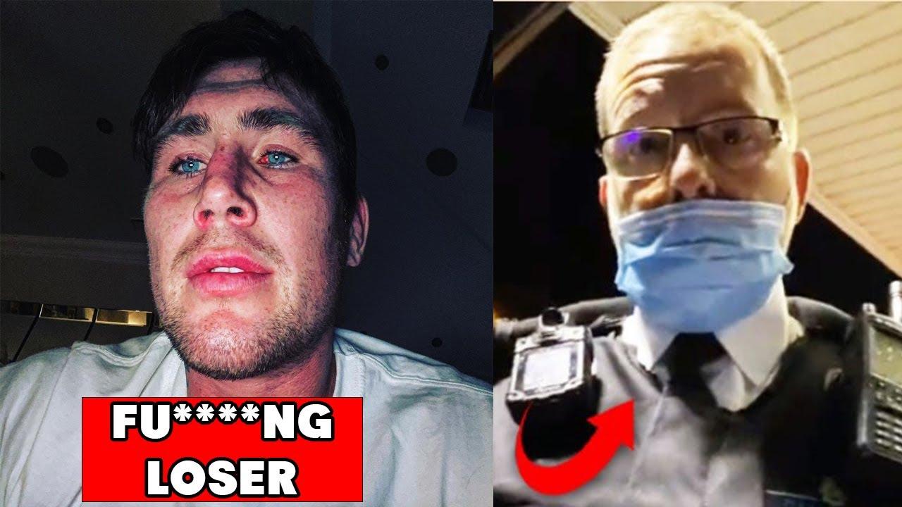Полицаи тормозят Дарън Тил, защото не носил маска