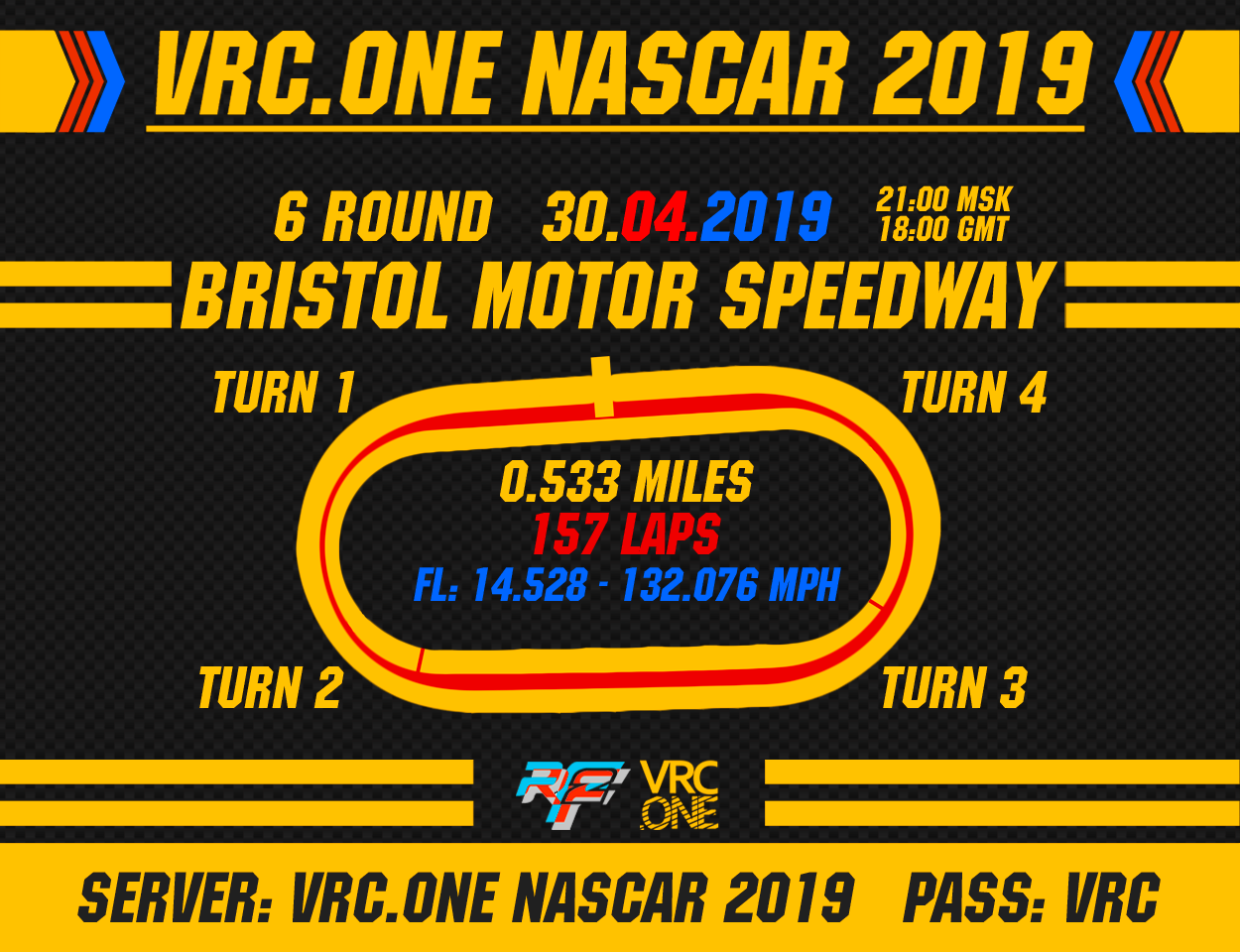 VRC NASCAR 2019 - Round 6 - Bristol