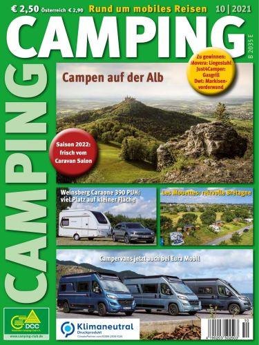 Cover: Camping Magazin No 10 Oktober 2021