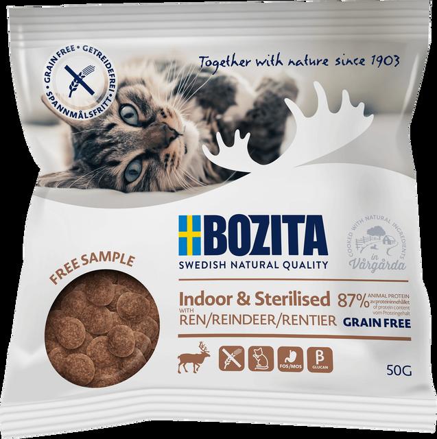 81231-01-bozita-dry-cat-indoor-sterilised-reindeer-gf-50g-sample-bag