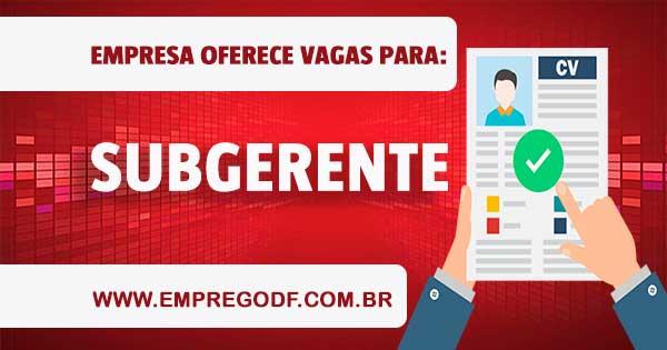 EMPREGO PARA SUBGERENTE DE VENDAS CALL CENTER