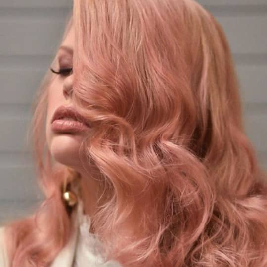Light Pink-strawberry-styled-hair