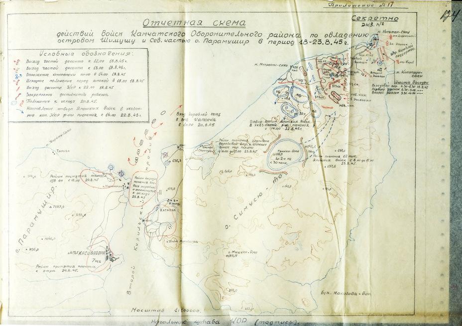 The scheme of hostilities in Shumshu and Paramushir