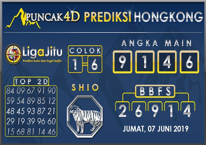 PREDIKSI TOGEL HONGKONG PUNCAK4D 07 JUNI 2019