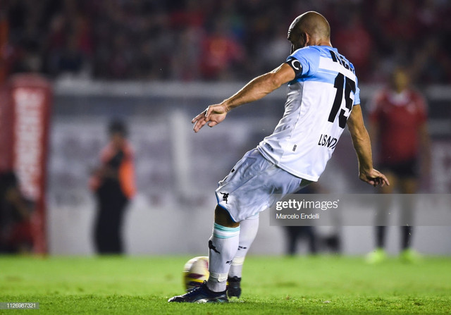 AVELLANEDA-ARGENTINA-FEBRUARY-23-Lisandro-Lopez-of-Racing-Club-takes-a-penalty-kick-and-scores-the-s