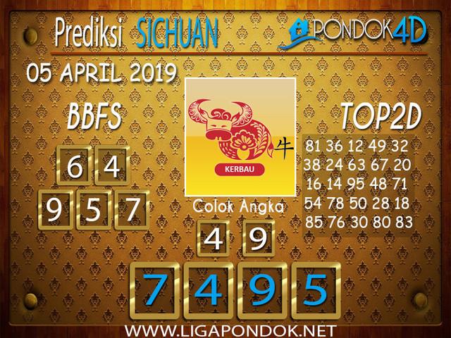 Prediksi Togel SICHUAN PONDOK4D 05 APRIL 2019