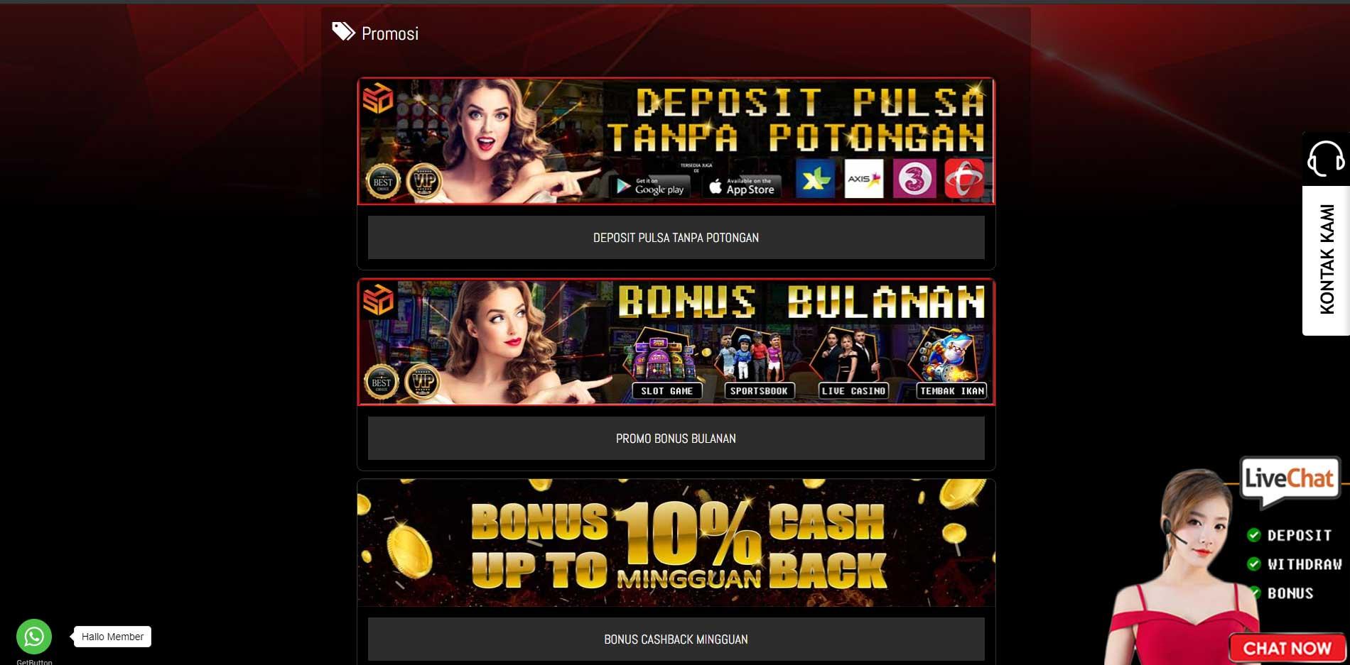 promo live casino online spesial4d