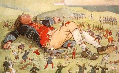Gulliver preso pelos Liliputianos
