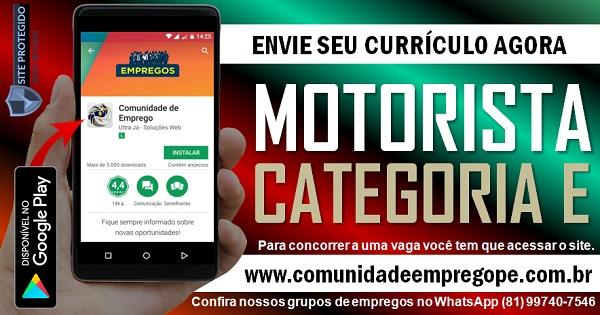 MOTORISTA COM SALÁRIO DE R$ 2103,64 PARA DISTRIBUIDORA DE COMBUSTÍVEL EM SUAPE