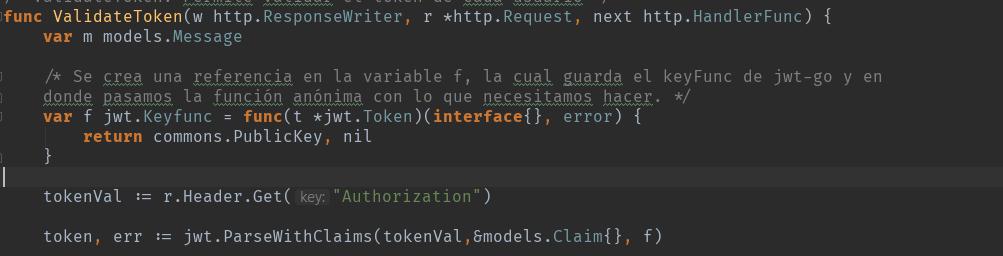 Codigo de GO_ parseWithClaims