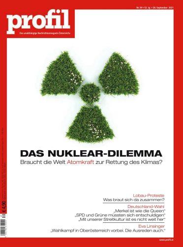 Cover: Profil Nachrichtenmagazin No 39 vom 26  September 2021
