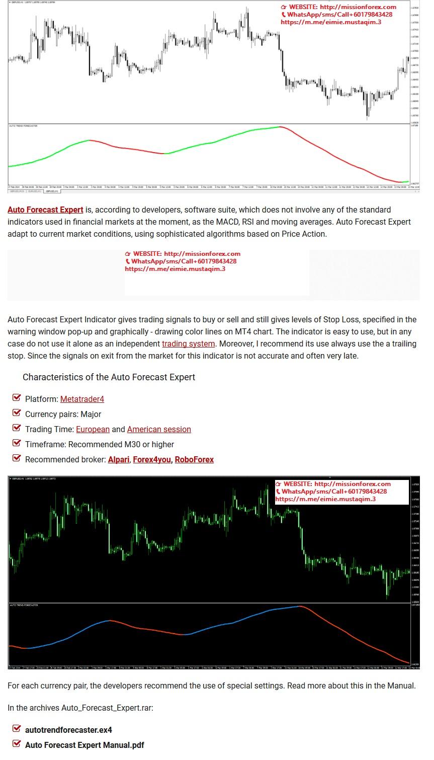 Auto Forecast Expert - A World Class Trading Expert Advisor forex