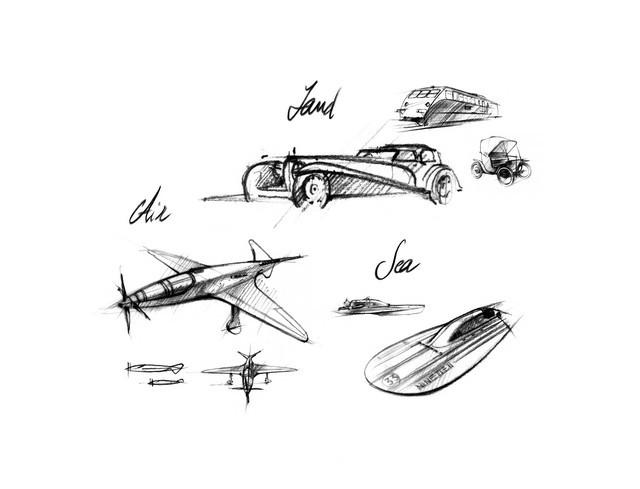 Les risque-tout chez Bugatti – entre l'avion et la voiture de course  01-ettore-bugatti-projects