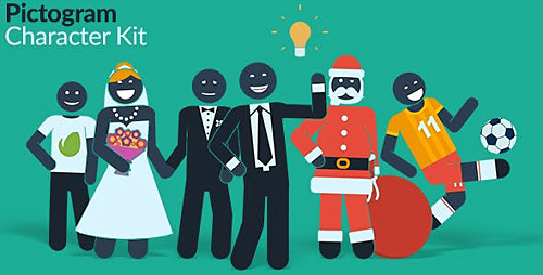 Pictogram Character Kit 13881995 - Project for After Effects (Videohive)