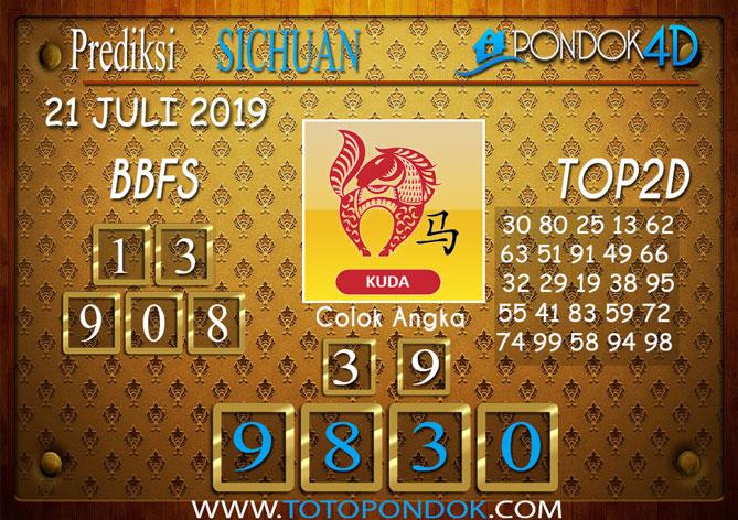 Prediksi Togel SICHUAN PONDOK4D 21 JULI 2019