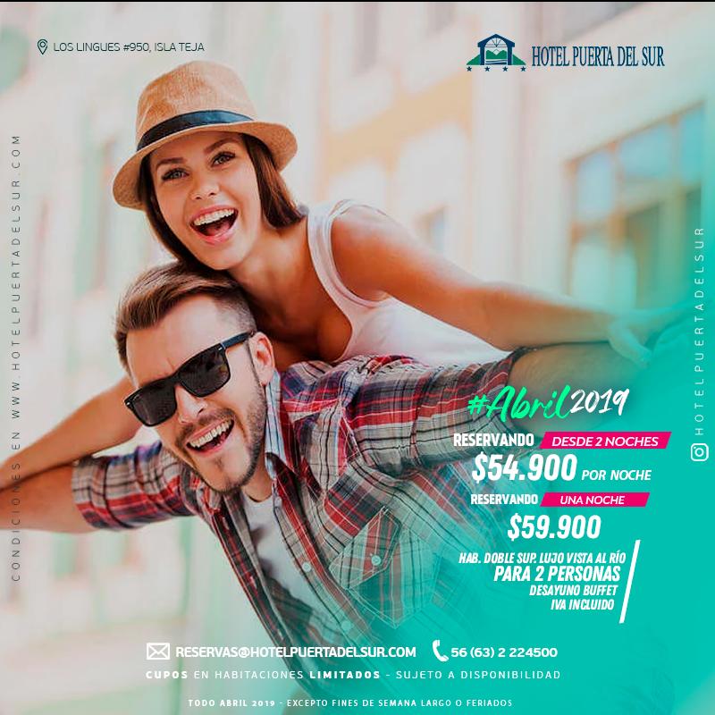 Promocion TODO ABRIL 2019 Hotel Puerta del Sur