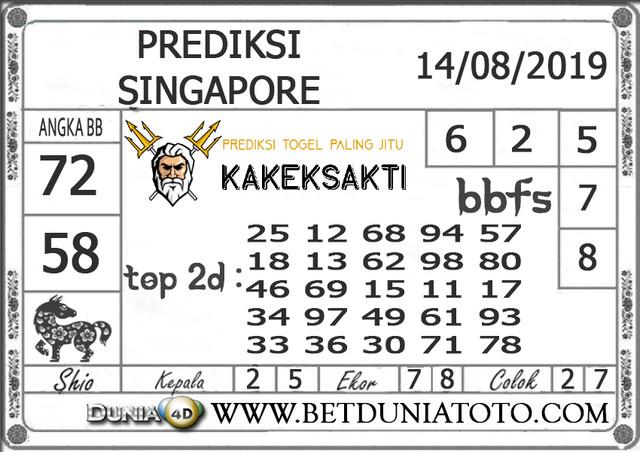 """Prediksi Togel """"SINGAPORE"""" DUNIA4D 14 AGUSTUS 2019"""