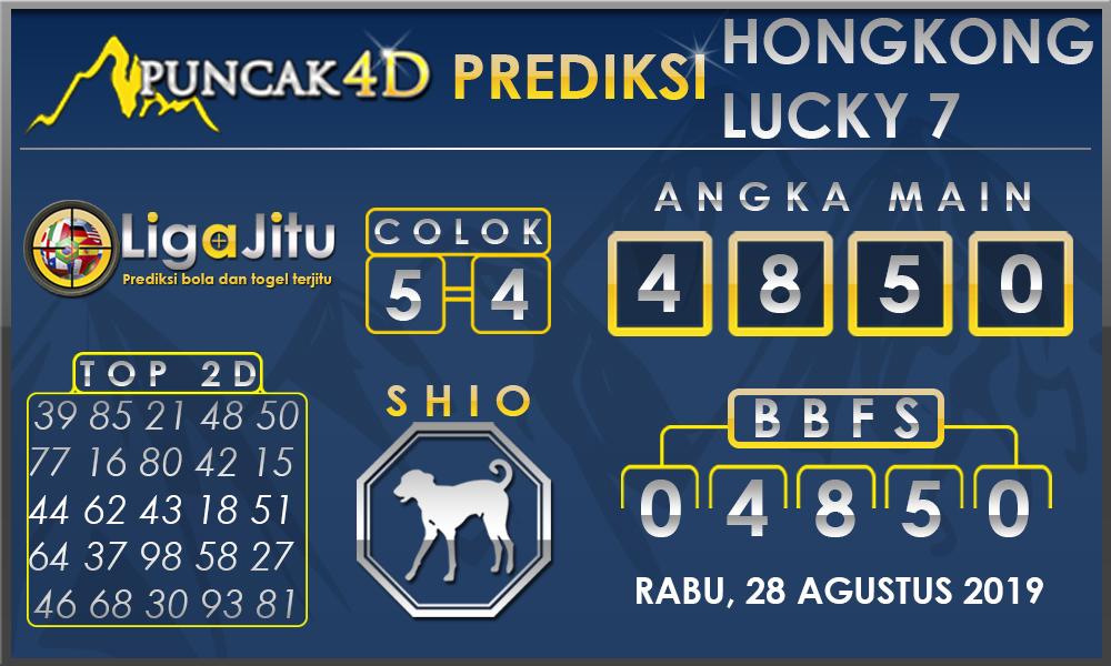 PREDIKSI TOGEL HONGKONG LUCKY7 PUNCAK4D 28 AGUSTUS 2019