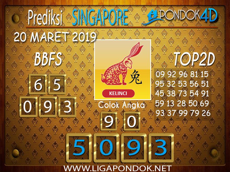 Prediksi Togel SINGAPORE  PONDOK4D 20  MARET 2019