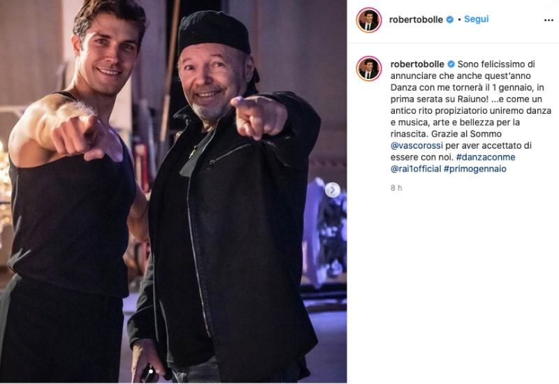 """Vasco Rossi da Roberto Bolle a """"Danza con me"""""""