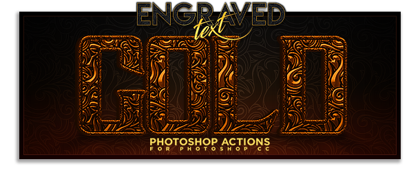 Premium Engraved Text Photoshop Actions