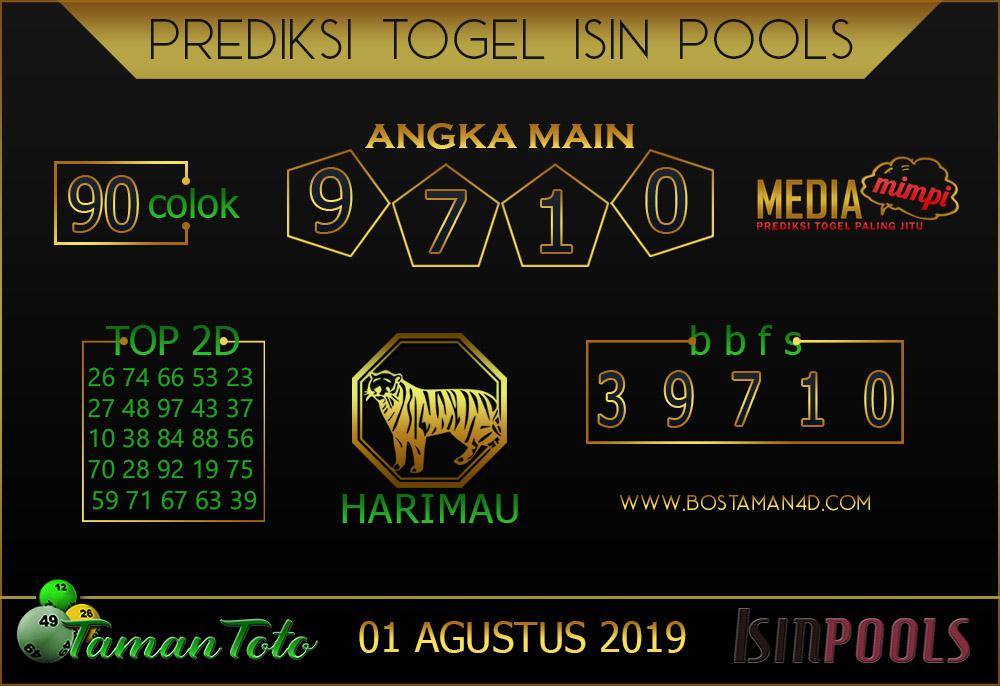 Prediksi Togel ISIN TAMAN TOTO 01 AGUSTUS 2019